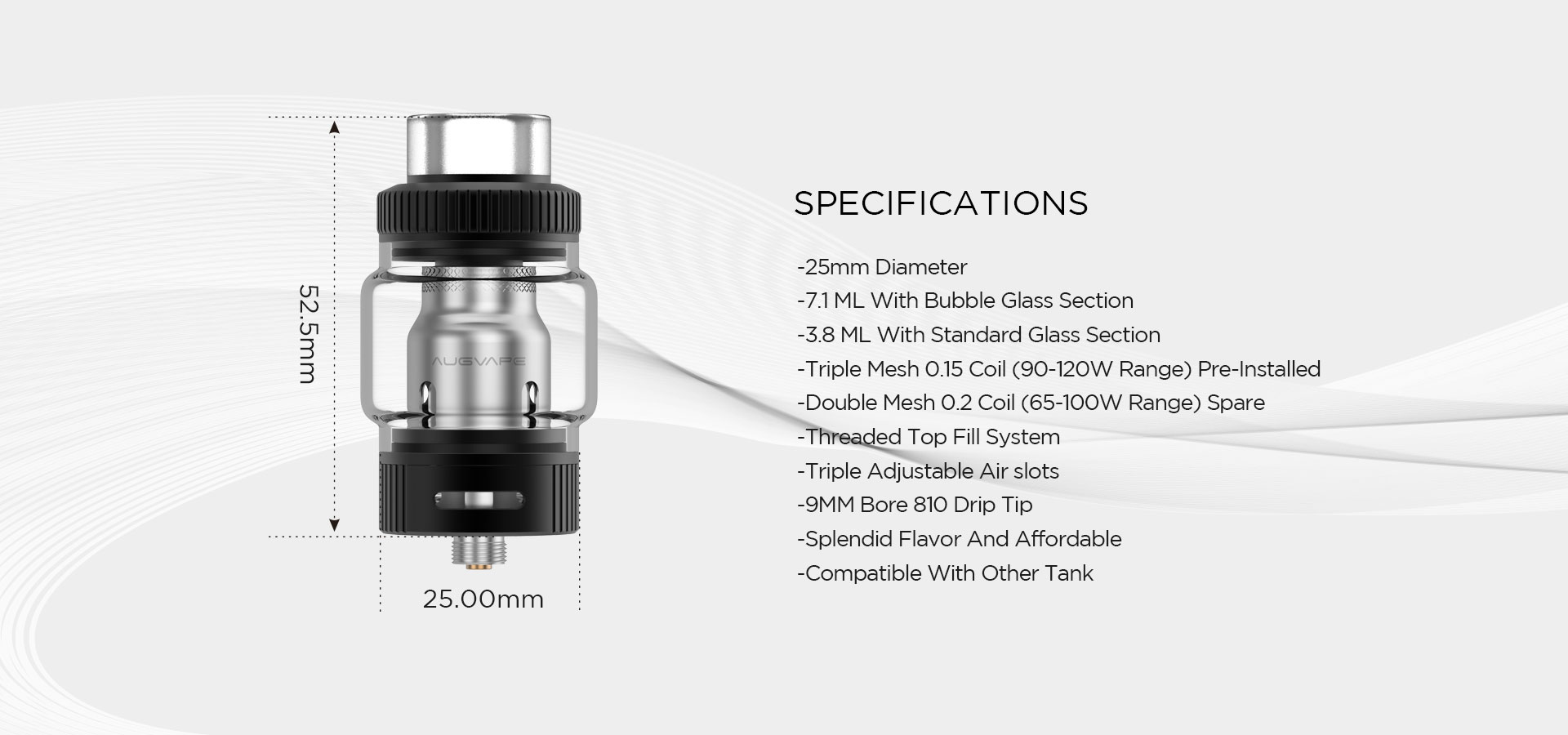 best subohm tank mesh coil atomizer